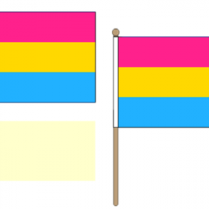 Pansexual Hand Waving Flags