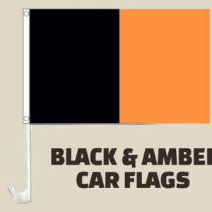 Black and Amber Car Flag