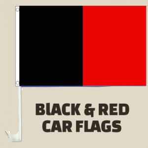 Black and Red Car Flags