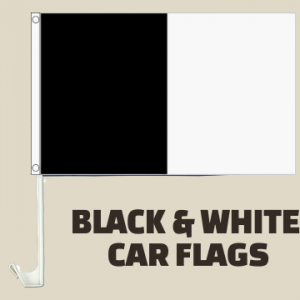 Black and White Car Flags