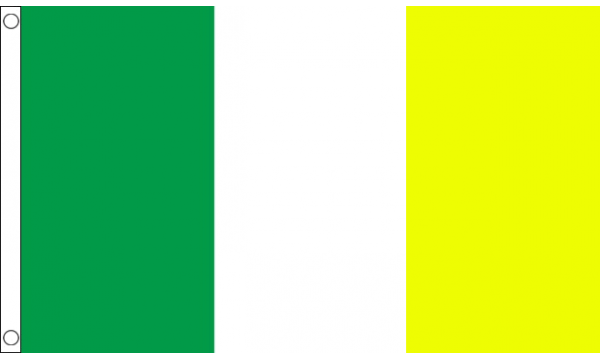 Green White and Yellow Flag