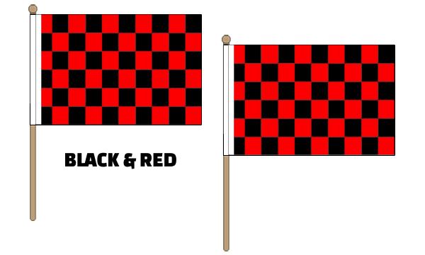 Checkered Hand Waving Flags