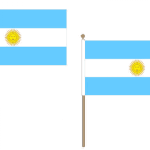 Argentina Hand Waving Flags