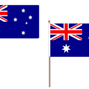 Australia Hand Waving Flags