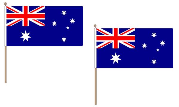 Australia Hand Waving Flags