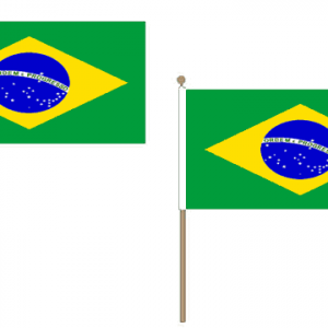 Brazil Hand Waving Flags