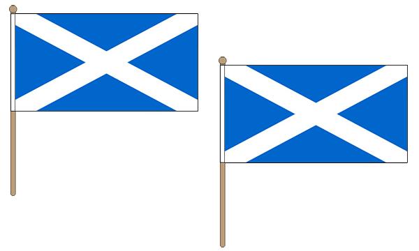 Scotland (Light-Blue) Hand Waving Flags