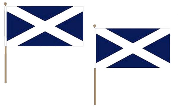 Scotland (Navy Blue) Hand Waving Flags