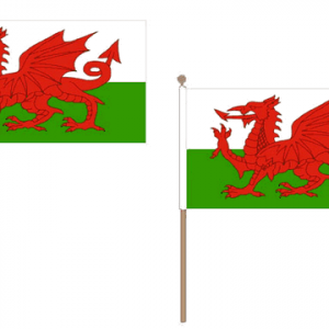 Wales Hand Waving Flags