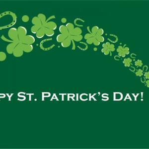 St Patricks Day Pot of Gold Flag
