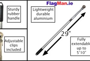 Hand Held Flag Pole