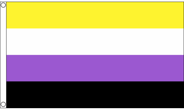 Non-Binary Flag for Sale | Flagman | Buy Non-Binary Flags today.