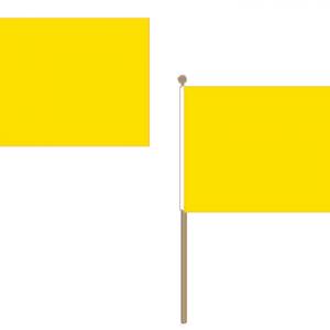 Plain Yellow Hand Waving Flags