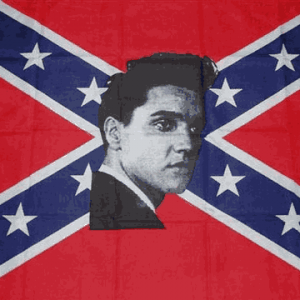 Rebel Elvis Flag