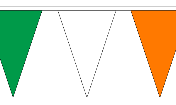 Green White and Orange Bunting
