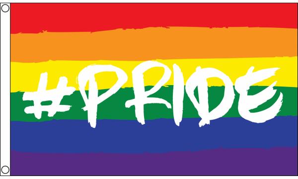 Hashtag Pride Rainbow Flag