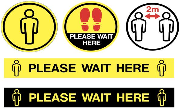 Social Distance Floor Signs