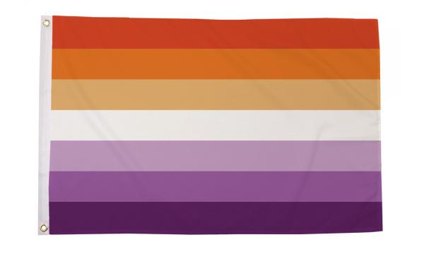 Lesbian Sunset Pride Flag