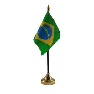 Brazil Table Flag