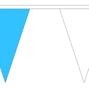 Sky Blue and White Bunting
